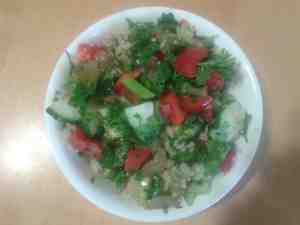Quinoa Parsley, Honey-Grape Salad