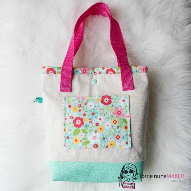 canvas leather tote bag-1
