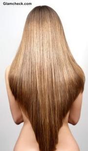 shaped haircut long hair