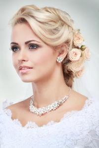 Wedding hair with fringe