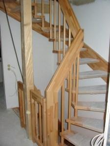 Die Holztreppe...