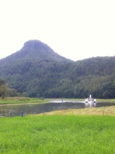 Der Elbe umfließt den Lillienstein