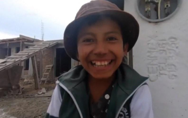 Paquito de 10 años sueña con ser científico o arquitecto