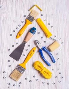 arbol navidad albañil herramientas