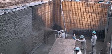 Vaciado de concreto para superficies verticales