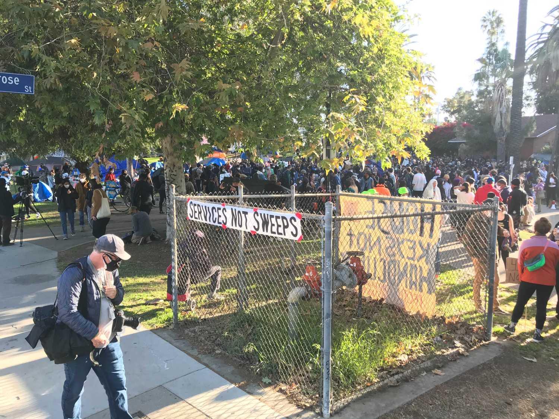 Echo Park Lake Homeless Encampments May Be Shut Down- protest 3/24/21