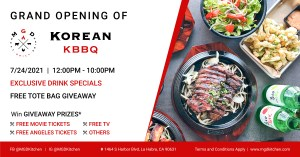 MGD KOREAN BBQ GRAND OPENING - AYCE KBBQ FOOD AND DRINK SPECIALS- GIVEAWAY RAFFLE: ANGELS TICKETS, AMC TICKETS, 50 in TV AND MORE @ The Row on Harbor | La Habra | California | United States