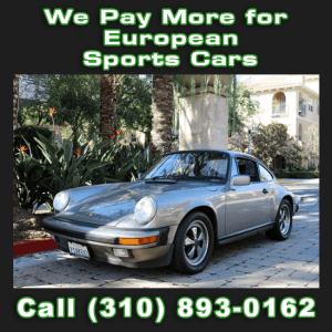 Sell My European Sports Car or Luxury Car in Los Angeles