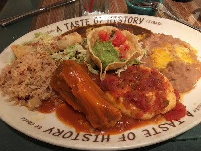 A Taste of History- tamal, enchilada, chile relleno