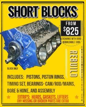 Short Block Engine Rebuild Includes