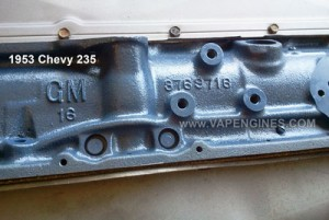 chevy gm 235 6 cyl engine rebuild- cast numbers