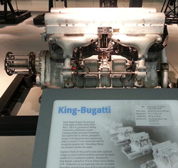 king bugatti engine
