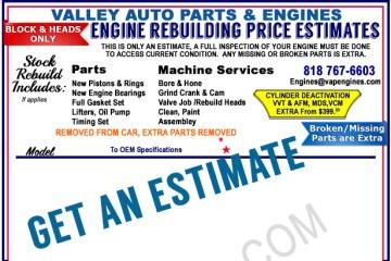Engine Rebuilding Prices