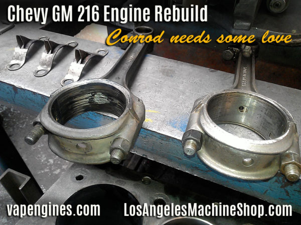 Gm 216 connecting rod damage