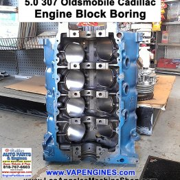 5.0 307 engine block bore and hone