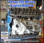 remanufactured chevy 350 marine engine
