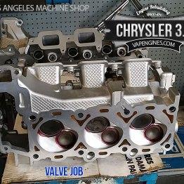 chrysler 3.7 valve job, cylinder head repair