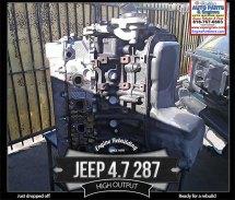 Jeep 4.7 287 V8 engine ready to rebuild