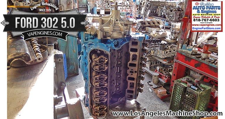 Rebuilt Ford 302 5.0 engine