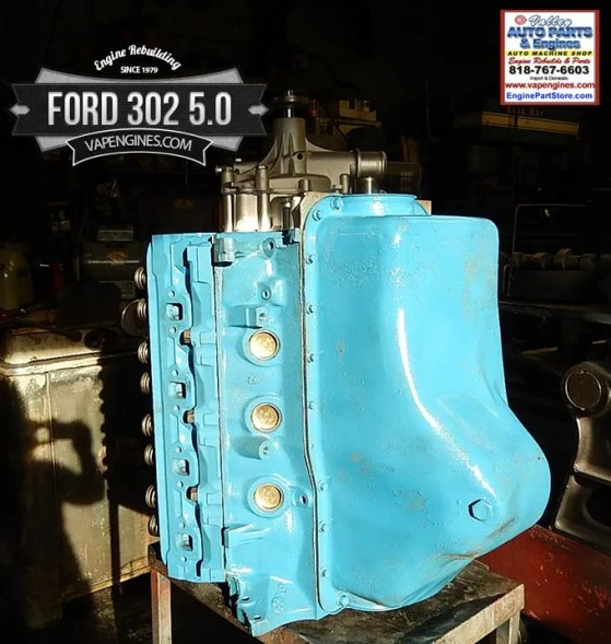 Remanufactured ford 302 5.0 engine