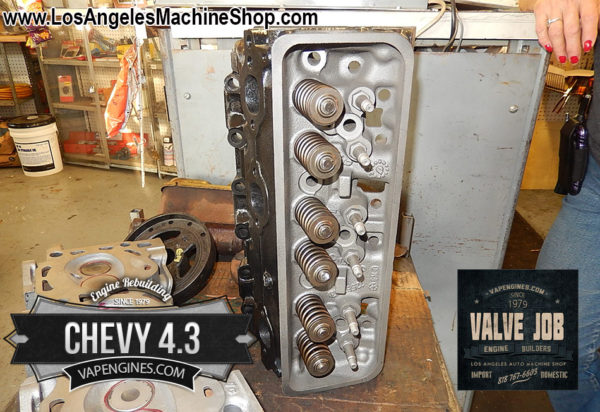 Chevy GM 4.3 Cylinder head after Valve Job