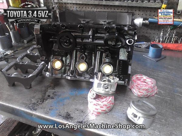 Toyota 5VZ 3.4 V6 short block engine rebuild.