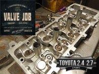 toyota 2.4/2.7 head assemble during valve job
