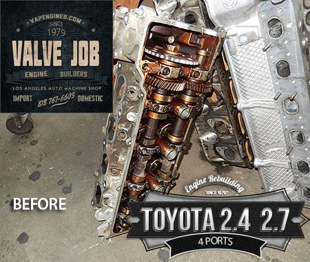 toyota 2.4 head waiting for valve job