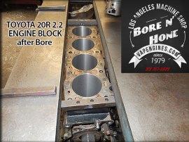 cylinder bore on Toyota 20R engine block