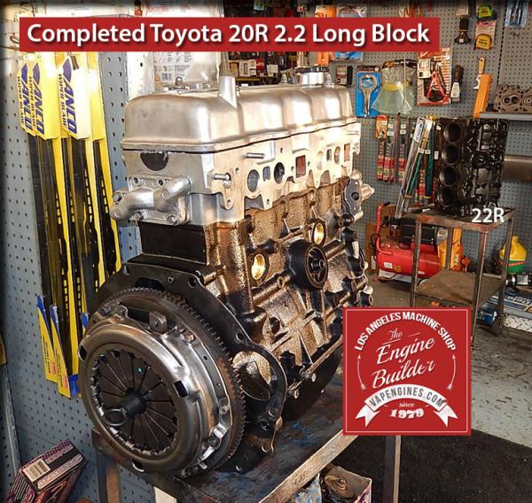 Remanufactured Toyota 20R engine