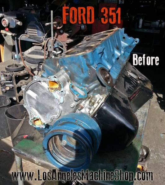 ford 351 engien before rebuild