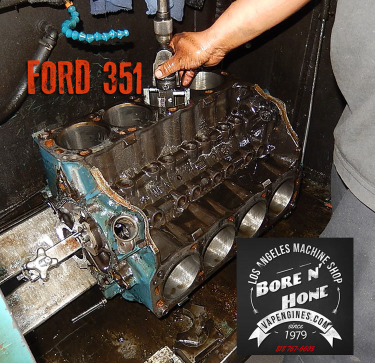 Ford 351 cylinder honing