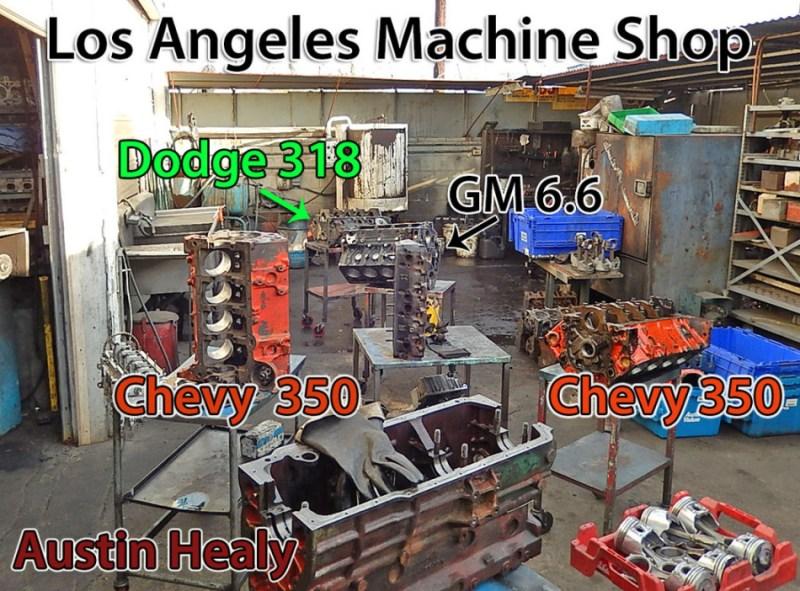 Los Angeles Machine shop engines