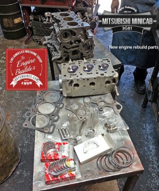 Mitsubishi Minicab 3G81 engine rebuild kit parts