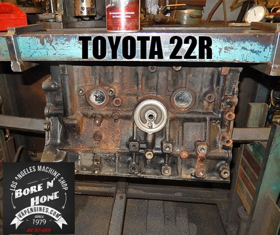 Bore Toyota 22R engine block cylinders