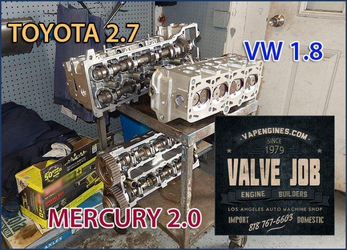 toyota, mercury, vw valve job