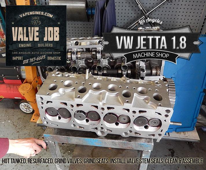 valve job on VW jetta 1.8 head