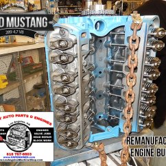 1966 Mustang 289 Engine Kubota Zd21 Wiring Diagram Ford 4 7 V8 Remanufactured Los Angeles Machine