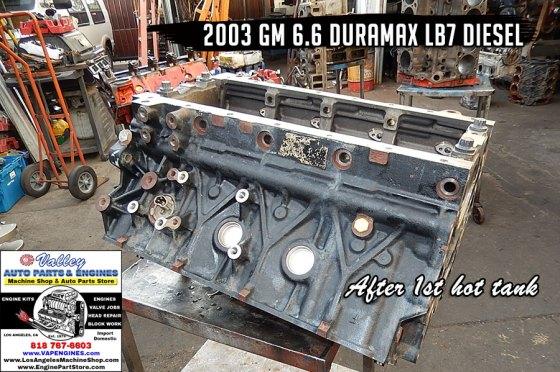Hot tanked GM 6.6 lb7 engine block