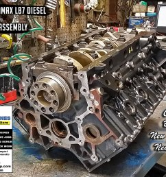 03 gm 6 6 lb7 duramax 32v v8 remanufactured engine los angeles machine shop engine rebuilder auto parts store [ 1450 x 904 Pixel ]