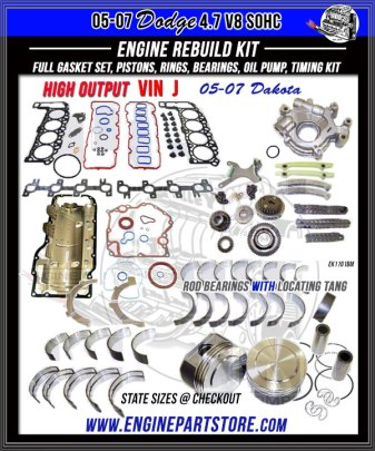 05-07 Dodge Dakota 4.7 HO engine rebuild kit