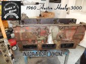 1960 Austin Healy engine block