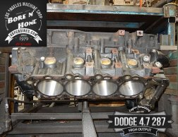 Bore cylinders on Dodge 4.7 block
