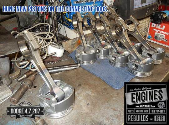 Hang pistons on rods- Dodge 4.7 HO