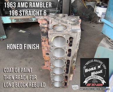 bore and honed cylinders amc rambler 196