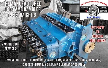 remanufactured 63 amc rambler 3.2 engine