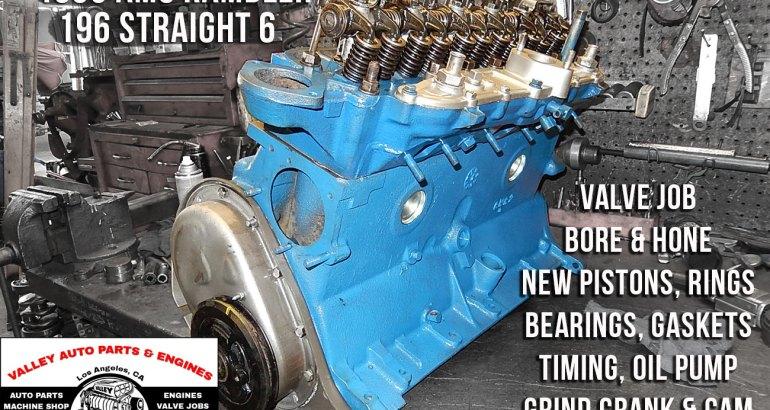 Remanufactured 63 amc rambler 196 3.2 engine