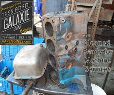 Cleaned engine block Ford Galaxie 500 5.8