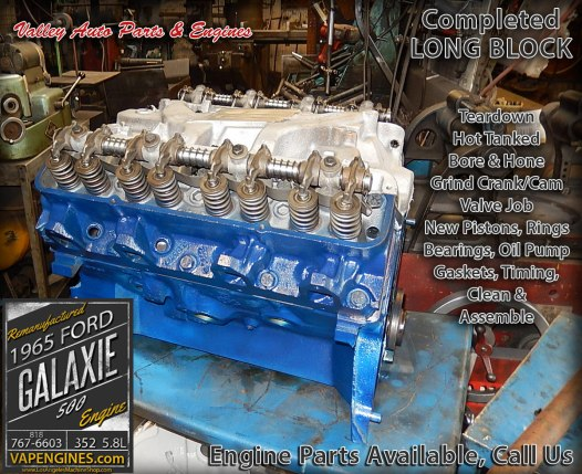 Rebuilt 65 Ford Galaxie 500 5.8L