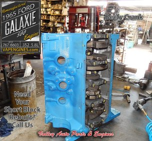 Short block assembly Ford Galaxie 352